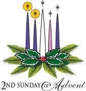 2 Advent candle