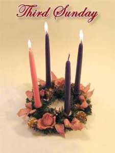 3 Advent candle